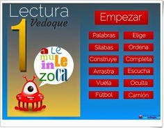 """""""Lectura 1"""" es una aplicación de Vedoque con distintas actividades interactivas para el aprendizaje de la lectura. Spanish Activities, It Cast, Study, App, Teaching, Languages, China, Club, World"""