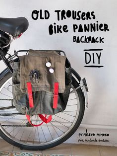 How To Sew A DIY Bike Pannier Backpack