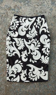 Alabama Chanin Aurora Pencil Skirt; $2,050 #vegan #veganfashion