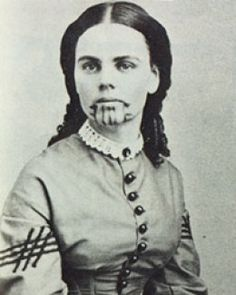 Reminds me of my 'Indian Captive' historical fiction days in Junior High.   The true story of Olive Oatman, captive white girl in the Old West.