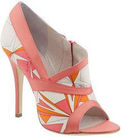 Emilio Pucci Coral High Heels