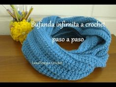 Bufanda infinita a crochet, con punto alto en relieve / LanaTerapia - YouTube Crochet Poncho, Crochet Granny, Crochet Stitches, Stitch Patterns, Knitting Patterns, Crochet Patterns, Small Blankets, Different Stitches, Crochet Round