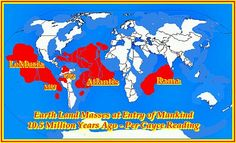 Map of the Ancient continents