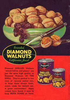 Win with Diamond Walnuts-back of recipe book, 1936