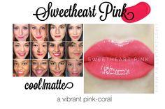 Sweetheart Pink LipSense collage