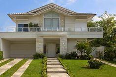 30 Fachadas de casas com pedras – veja diferentes tipos e tendências!