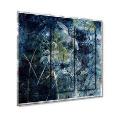 All My Walls Blue Beauties Metal Wall Sculpture - - Metal Wall Art - Wall Art & Coverings - Decor Metal Wall Art Decor, Metal Wall Sculpture, Hanging Wall Art, Wall Sculptures, Metal Art, Visual Effects, Beautiful Wall, Online Art Gallery, Three Dimensional