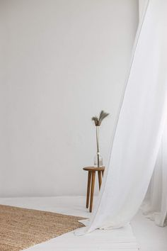 Lightweight Linen Curtains / Linen Sheer Curtain Our natural linen curtains will enrapture you with simple forms, clear colors, extreme comfort, quality and a breath of nature in your home. This handmade item is long lasting, Sheer Linen Curtains, Tab Curtains, Aesthetic Pastel Wallpaper, Aesthetic Wallpapers, Fond Studio Photo, Photography Studio Spaces, Casamance, Deco Originale, Minimalist Wallpaper