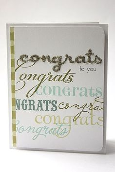 Congrats To You Card by Heather Nichols for Papertrey Ink (November 2013)