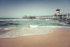 Huntington Beach Pier Vintage Toned Print