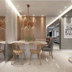 The young and modern apartment has a beautiful dining room 😍. Wardrobe Design Bedroom, Bedroom Bed Design, Living Room Interior, Living Room Decor, Workout Room Home, Dinner Room, Beautiful Dining Rooms, Dining Room Inspiration, Dining Room Lighting