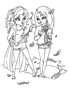 I made this lineart for a surprise collab with , who's a big Harry Potter fan. It represent Hermione and Luna having a magical pillow fight. As you can see, Luna is calling for a time out... Was sh...