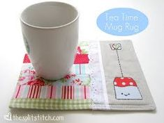 Free Mug Rug Patterns: How to make placemets and how to make napkins -- Tea Time Mug Rug Tutorial