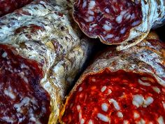 From the Market - Colour photograph of mixed Salamis by John Claridge offered in two sizes as a limited edition, signed and numbered archival pigment print (unframed). Antiques Online, Selling Antiques, Dc Photography, Galleries In London, Black N White Images, Food, Essen, Meals, Yemek