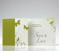 Einladungskarte pr8722148 Schmetterlinge z.B. grüne Hochzeit