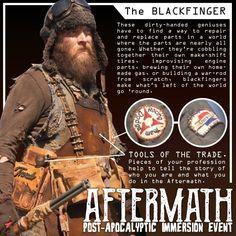 Windsor Farlander displays the Blackfinger traits for Aftermath. www.aftermathevent.com
