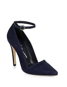 Alice + Olivia Diana Suede Ankle Strap Pumps - Avenue K