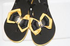 Pittsburgh Steelers Flip Flops by bowsforme on Etsy, $14.99