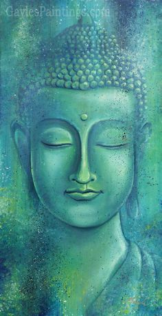"""Live with no sense of 'mine,' not forming attachment to experiences."" ~ The Buddha, Sutta Nipata Art by: Gayle Utter Title: Within the Depths of Silence ♥ lis Buddha Face, Buddha Zen, Buddha Buddhism, Buddhist Art, Budha Painting, Art Asiatique, Painting Inspiration, Canvas Art, Painting Canvas"