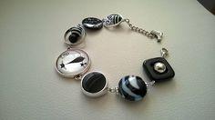 FREE SHIPPING JEWELRY Black beads bracelet Black asymmetric Funky Jewelry, Cat Jewelry, Black Jewelry, Modern Jewelry, Statement Bracelets, Black Bracelets, Statement Jewelry, Beaded Bracelets, Cat Necklace
