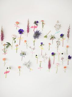 Lovely wall decor! Washi tape individual flowers to the wall for a super pretty backdrop!