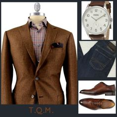 CASUAL FRIDAY(JEAN STYLE) Unknown(Sportcoat)-Fossil(Watch)-Express(Jeans)-Melik(Shoes)
