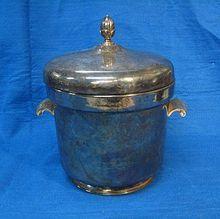 vintage Rogers Silverplate Ice bucket www.rubylane.com