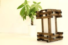 Wood Oak Table/Desk/Bedside Lamp/Light Can also be by WoodWarmth, $89.00