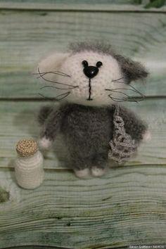Котенок Мурзик с описанием. Автор Елена Зиборова. Схема вязания игрушки