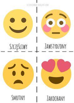 Emocje dla dzieci. Zabawy z emocjami. Polish Language, Preschool Activities, Hanging Out, Vocabulary, Kindergarten, Education, Learning, Diy, Speech Language Therapy