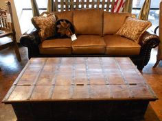 New Sofa From Mayo Furniture Of Texarkana Texas With An Old Trunk Coffee  Table From India