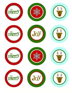 Oh, Boy. Oh, Joy!: Free Winter Wonderland Christmas Cupcake Toppers
