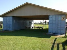 Cargo container barn trusses | Garage/carport in our near-future ...