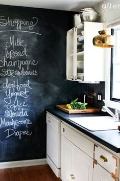 Chalkboard walls...Gorgeous Kitchen Design Ideas and Photos - Zillow Digs