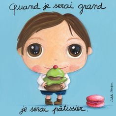 """Tableau d'Isabelle Kessedjian """"Quand je serai grand, je serai Pâtissier"""" - Le Coin des Créateurs"""