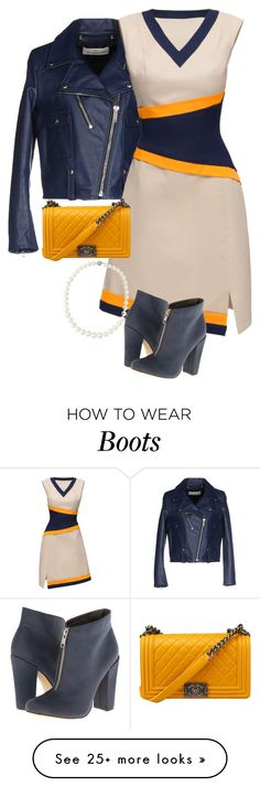 """""""Lattori dress with ankle boots"""" by ladygroovenyc on Polyvore featuring Mode, Golden Goose, Lattori, Michael Antonio und Belpearl"""