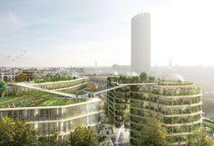 Galeria de Jacques Ferrier Architecture, Chartier Dalix e SLA Architects revelam seu projeto de Cidade Estratificada para a Reinventar Paris - 2