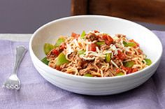 Our Saucy Beef-Noodle Skillet is a one-pot wonder. No need to cook the noodles separately-just simmer and serve! Ground beef and noodles have never tasted so good. Kraft Foods, Kraft Recipes, Pasta Recipes, Beef Recipes, Mexican Food Recipes, Ethnic Recipes, Hamburger Recipes, Noodle Recipes, Casserole Recipes