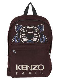 KENZO KENZO LARGE TIGER LOGO BACKPACK. #kenzo #bags #backpacks #