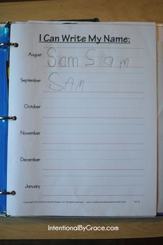 Getting Organized with a Kindergarten Notebook {plus how we do calendar time}