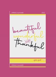 Girls Golf, Company Logo, Thankful, Beautiful