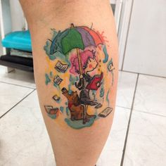 inspiration books love  tattoo watercolor by drikalinas