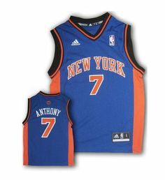 NBA New York Knicks Carmelo Anthony Replica Road Youth Jersey, Royal, Medium adidas. $30.77. Save 23%!