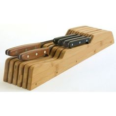 Lipper International Bamboo Knife Block - $25