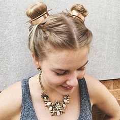 Say goodbye to the half-up/half-down bun – double buns have officially taken over as the trendiest cool girl hairstyle of the season. It's only fitting, considering how many other late 90's/early 2000's trends are considered stylish again.Double buns are also known as space buns, and they always make me think of my childhood obsession with the Spice Girls. They're cute, fun, unique, and easy to do – and they're also super versatile. As it turns out, there isn't only one way to do space…