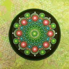 Mandala Wood Panel Large Round by KimberlyVallee on Etsy