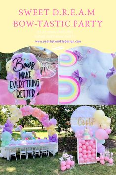 5th Birthday Party Ideas, Unicorn Birthday Parties, Birthday Balloons, Unicorn Party, Rainbow Unicorn, 3rd Birthday, Jojo Siwa Birthday Cake, Rainbow Birthday, Party Time