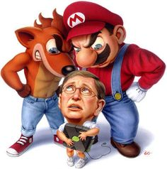 An ancient work of art depicting the console wars from 2001>>>How far we have come over a few short years