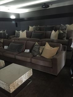 Family Room SectionalComfy SectionalGray SectionalSectional Sofa  LayoutSectional Sleeper SofaComfy CouchesLeather SectionalFabric  SectionalOversized ...