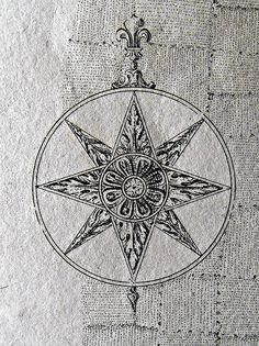 Another Compass Rose Mandala Compass Tattoo, Nautical Compass Tattoo, Map Compass, Sextant Tattoo, Wind Rose, Mariners Compass, Compass Design, Tattoo Project, Travel Drawing
